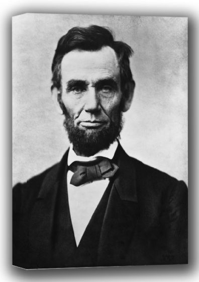 Abraham Lincoln Portrait. American President Canvas. Sizes: A4/A3/A2/A1 (001766)